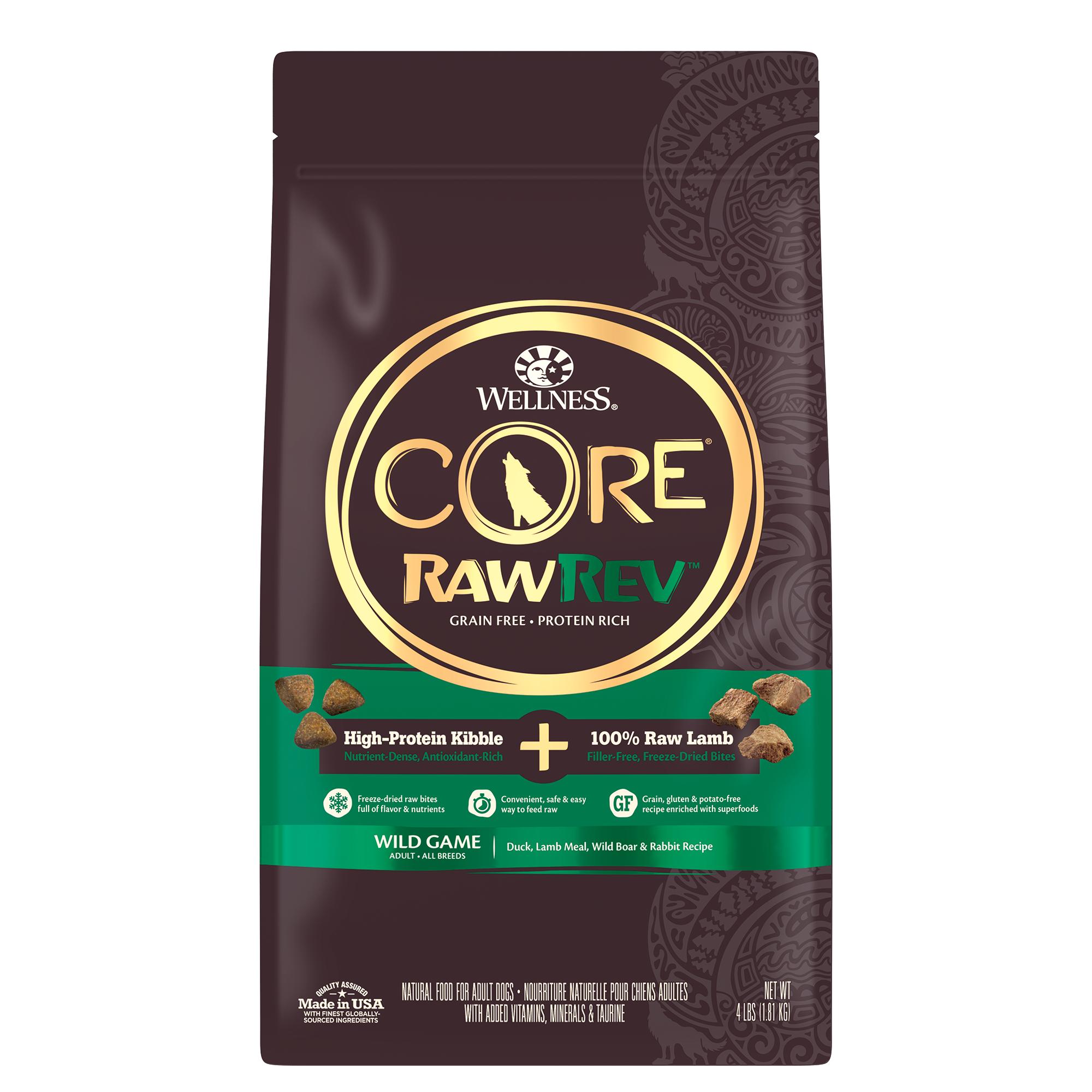 Core Rawrev Wild Game 100 Raw Lamb Dog Food Wellness Pet Food