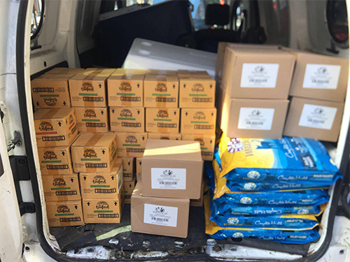 Wellness pet food donation