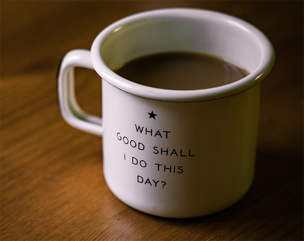 positive quote coffee cup