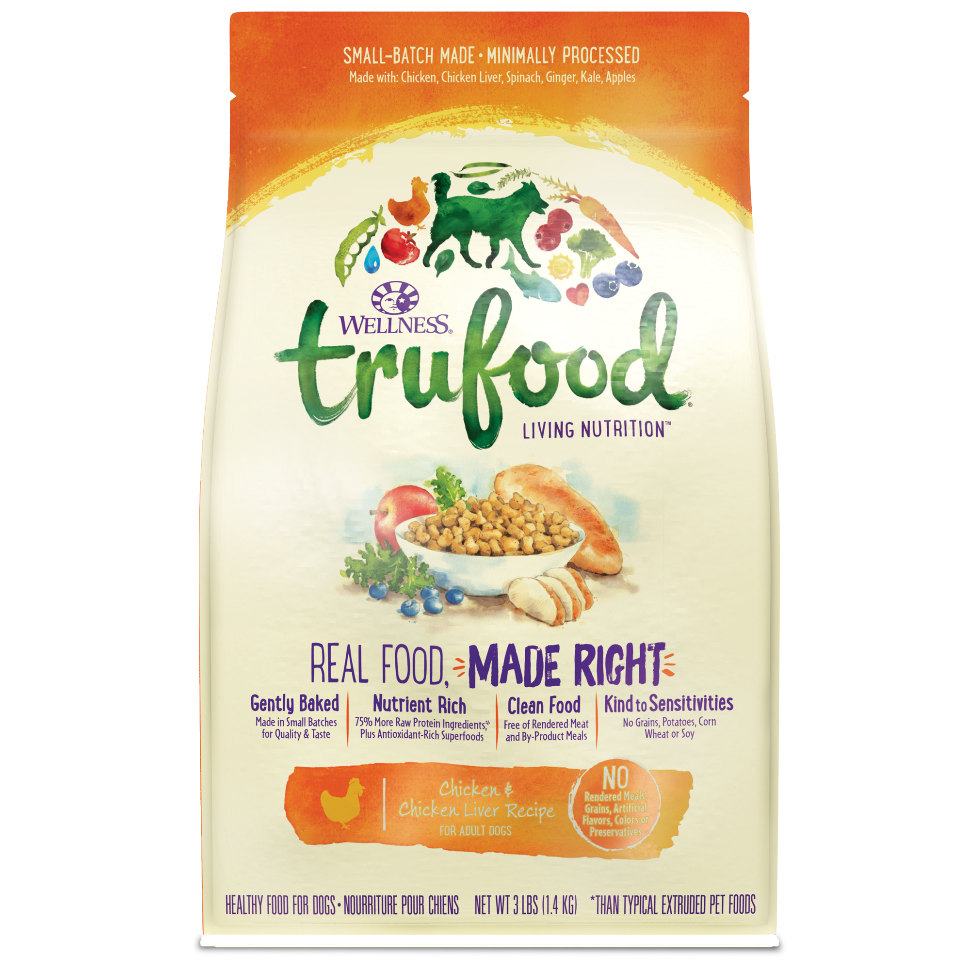 Trufood baked nuggets chicken chicken liver wellness pet food baked blends chicken forumfinder Image collections