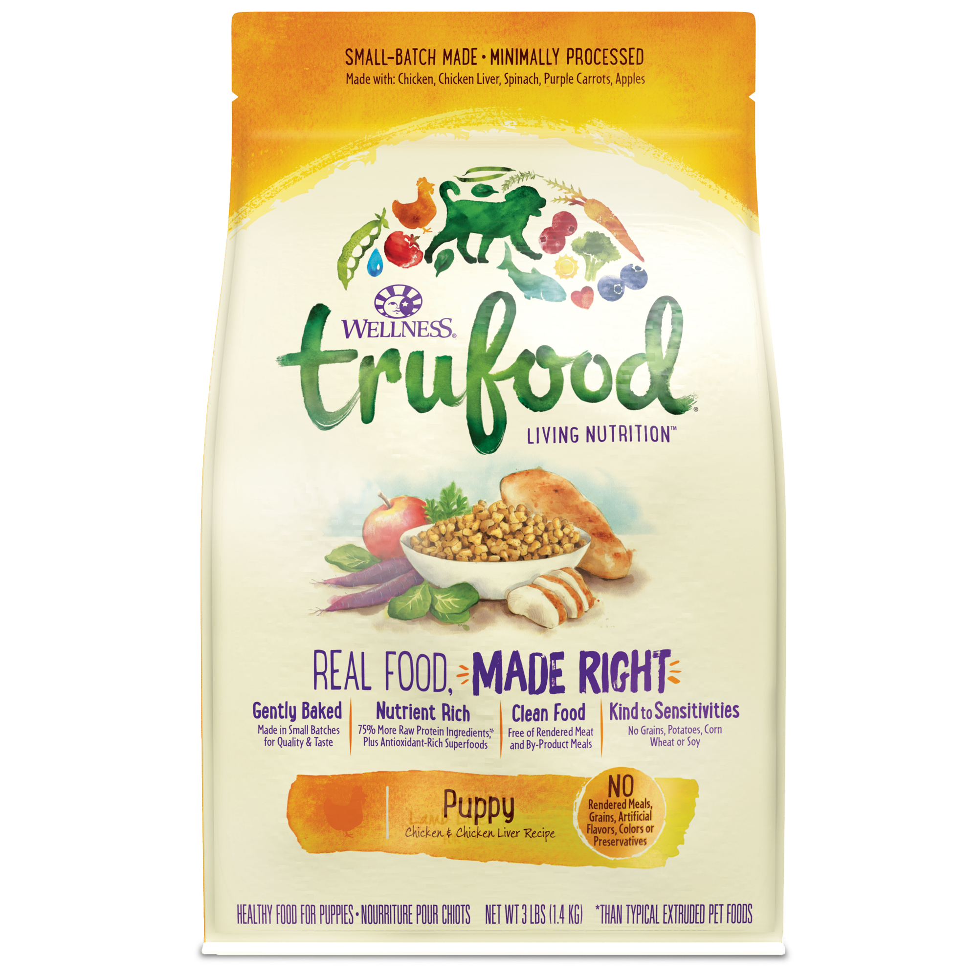 Trufood baked nuggets puppy wellness pet food baked blends puppy forumfinder Images