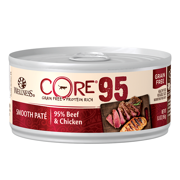 Wellness CORE 95% Beef & Chicken wet cat food