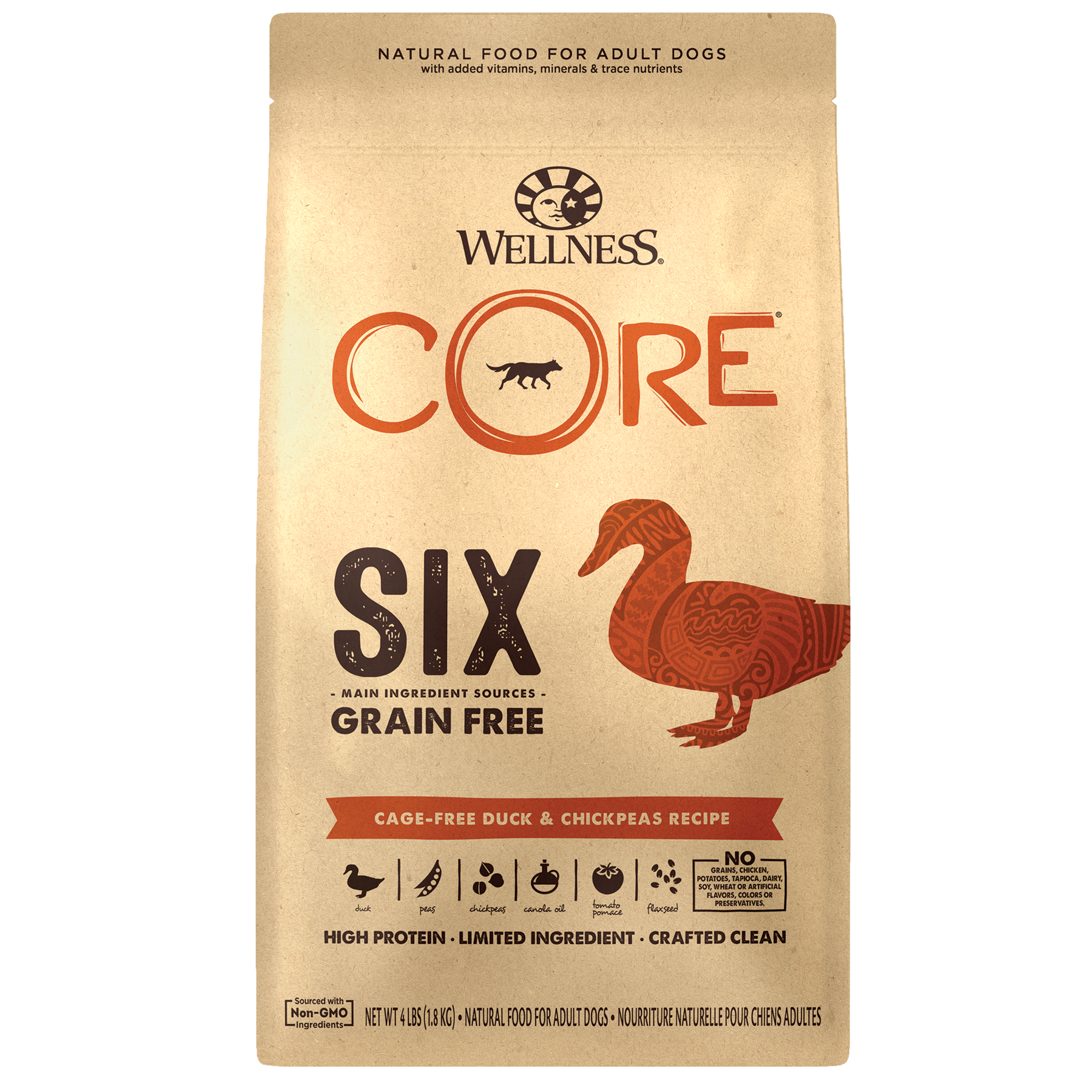 Wellness CORE SIX Cage-Free Duck Recipe