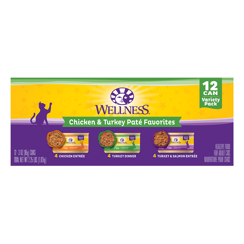 Wellness Complete Health Variety Pack Pate Chicken Turkey