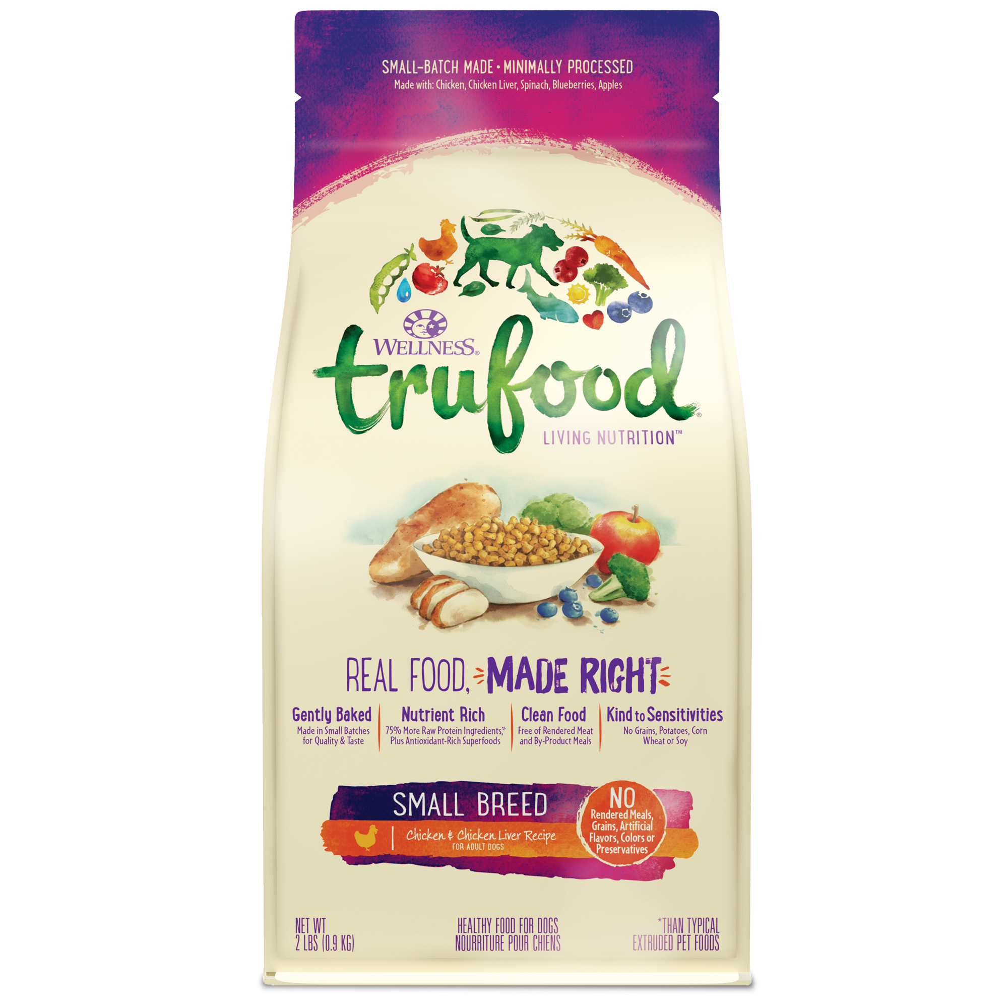 Trufood baked nuggets small breed wellness pet food small breed baked blends forumfinder Images