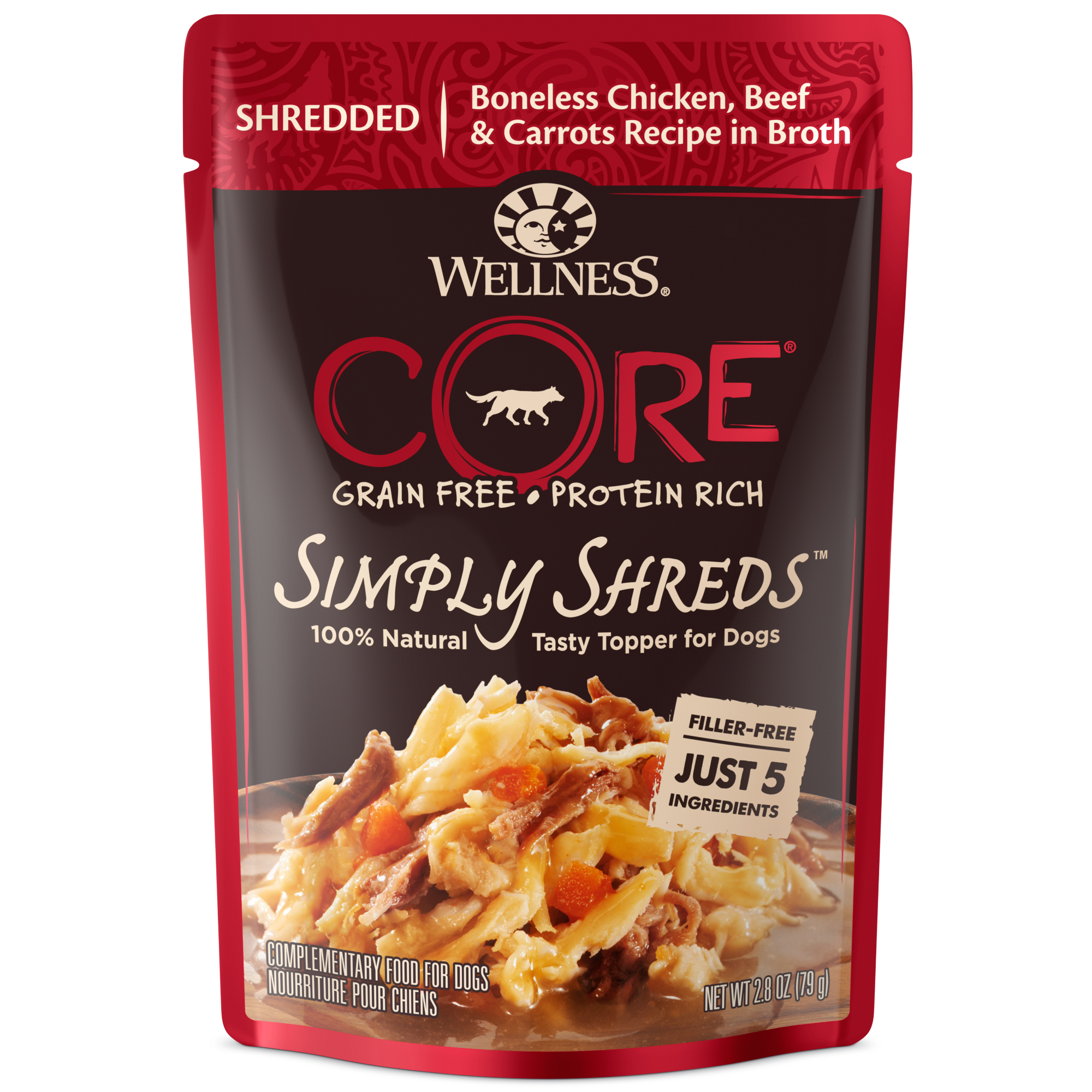 Simply Shreds Dog Chicken Beef Carrots