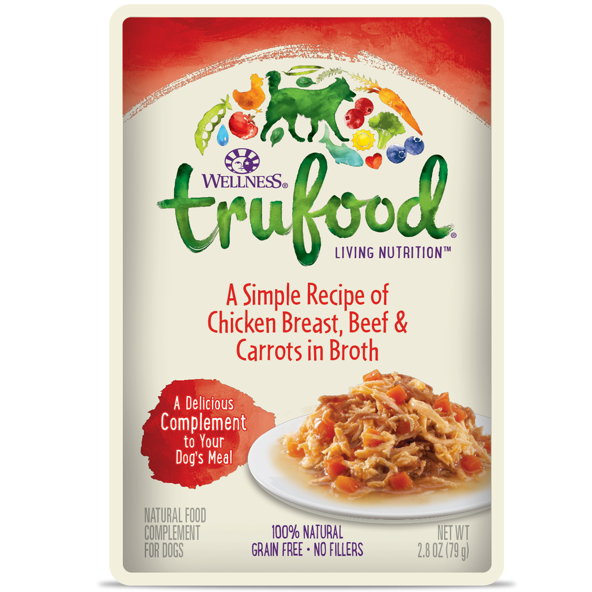 Trufood Complements Chicken, Beef Carrots