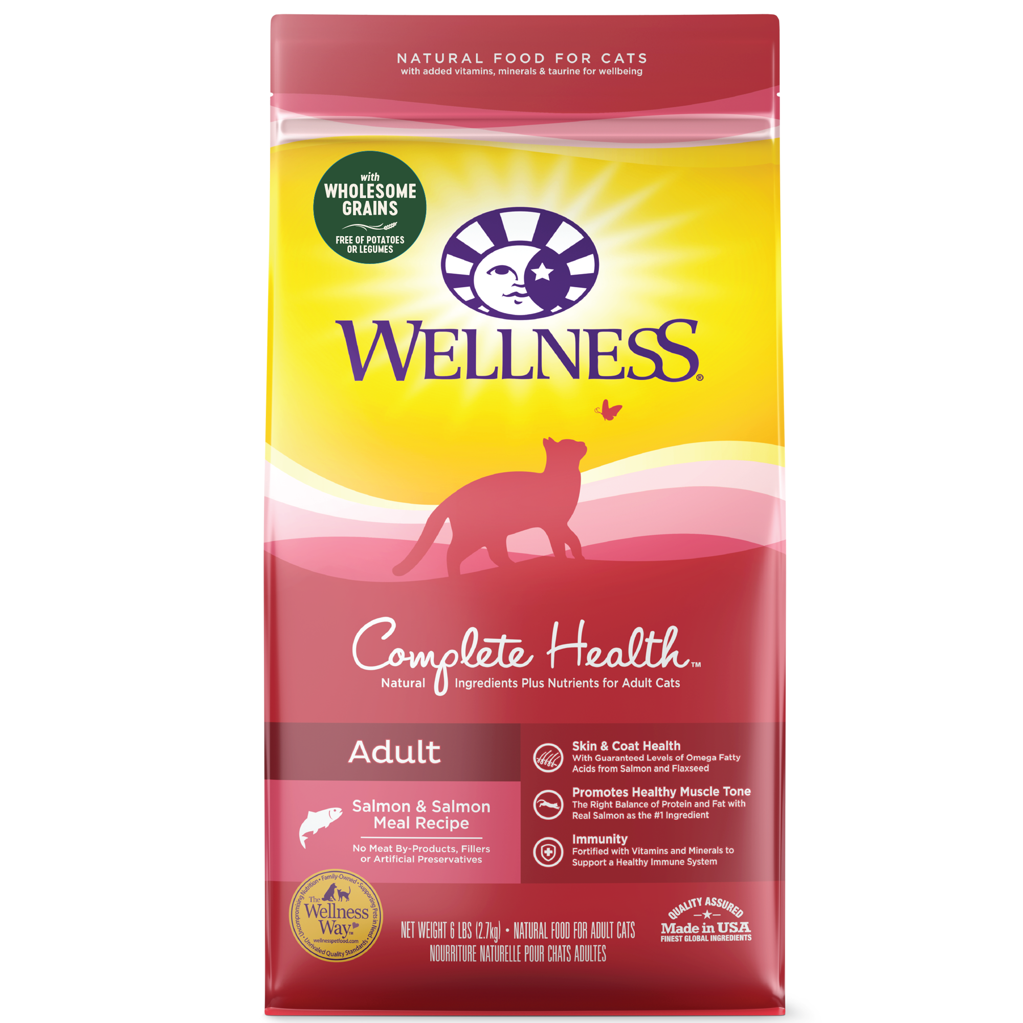 Wellness Complete Health Grains Salmon dry cat food